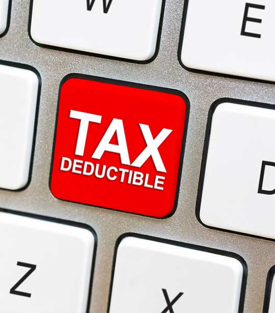 How is a tax deduction calculated?